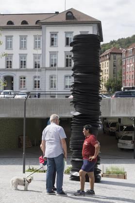 Anfang Juli baute Kilian Rüthemann den «Stack» auf.
