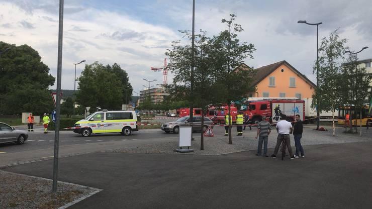 Nach dem tödlichen Unfall in Windisch wurde das Gebiet weiträumig abgesperrt.