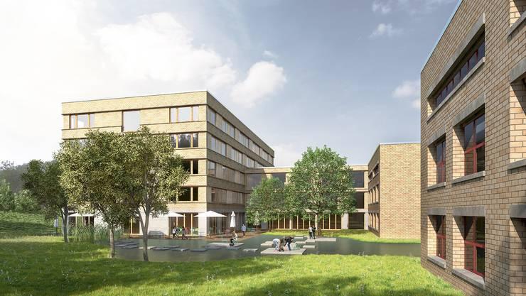 Das Engerfeld-Schulhaus wird bis 2019 saniert und mit einem Anbau ergänzt.