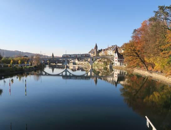 Herbststimmung in Bremgarten von Anton Scheiwiller.