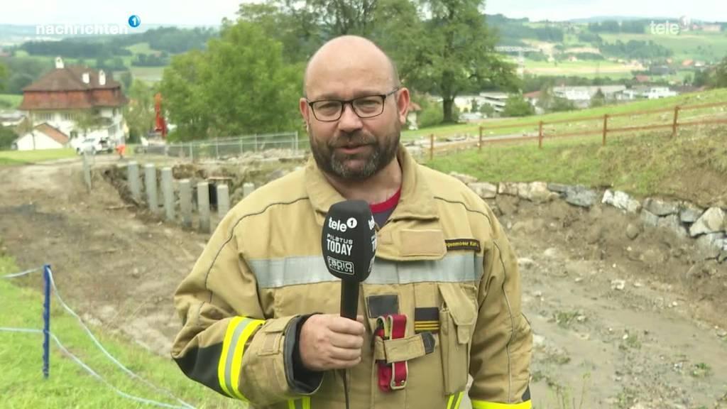 Feuerwehrkommandant ordnet das Gewitter ein
