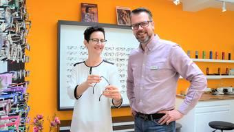 Cindy Müller und Falk Kellermann offerieren gerne die nötige Augenzeit.IAN
