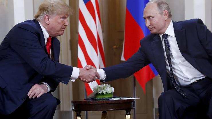 Zwei, die sich verstehen: Donald Trump und Wladimir Putin in Helsinki.