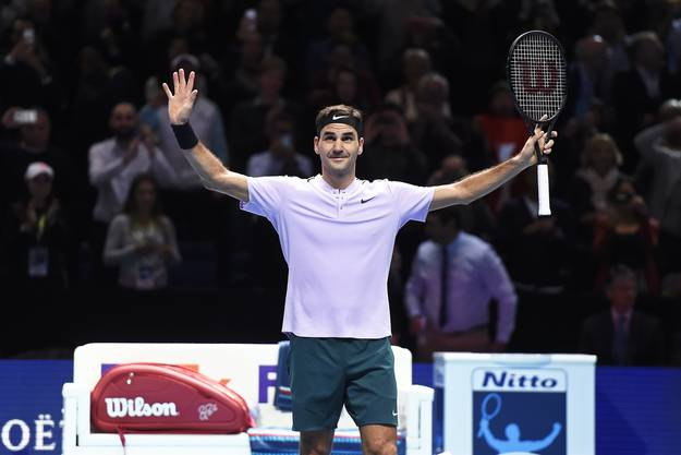 Roger Federer an den ATP World Tour Finals in London, 14. November 2017