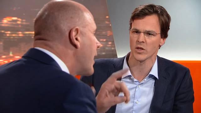 Sind sich gar nicht einig: Bastien Girod und Thomas Hurter beim Abstimmungsstreit im «TalkTäglich».