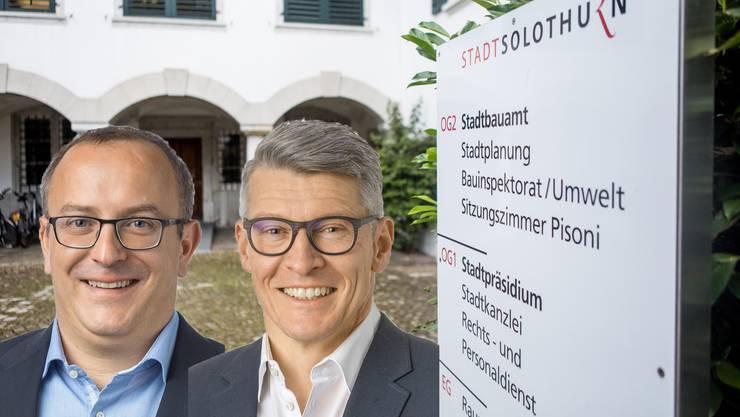 Das Zweierticket der FDP für die Stadtpräsidiumswahl: Marco Lupi und Markus Schüpbach