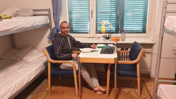 Rahim Mohammadzadeh ist iranischer Flüchtling: Hier in der Unterkunft Oberentfelden.