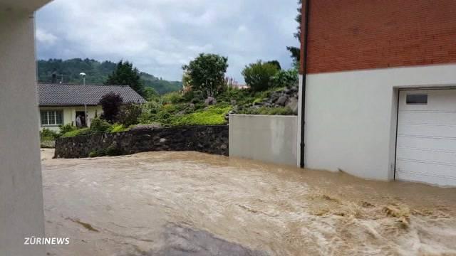 Bilder der Zerstörung im Aargau