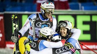 Grosser Jubel im Schweizer Team.