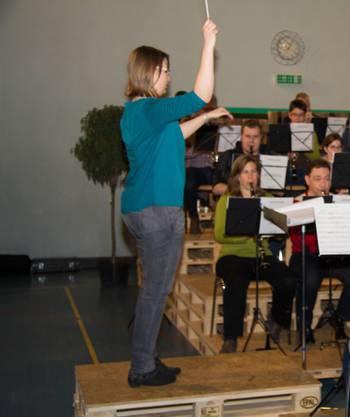 Master-Pieces, Karin Wäfler bei der Generalprobe zum Jahreskonzert des MV Merenschwand