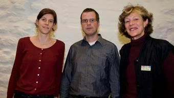 «Miguel» Misteli (r.), Präsidentin Verein 2000-Watt-Region, mit Flurina Doppler und Marcel Hänggi.