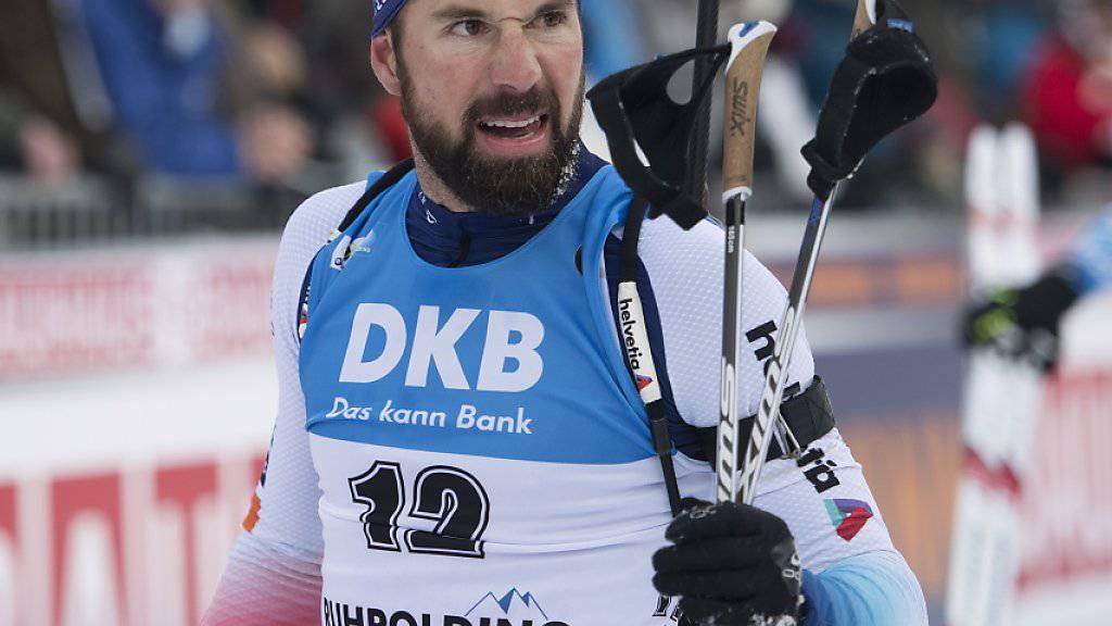 Benjamin Weger lief in Antholz im Massenstart als Sechster über die Ziellinie