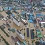 Massive Überschwemmung in Gurye, Südkorea.