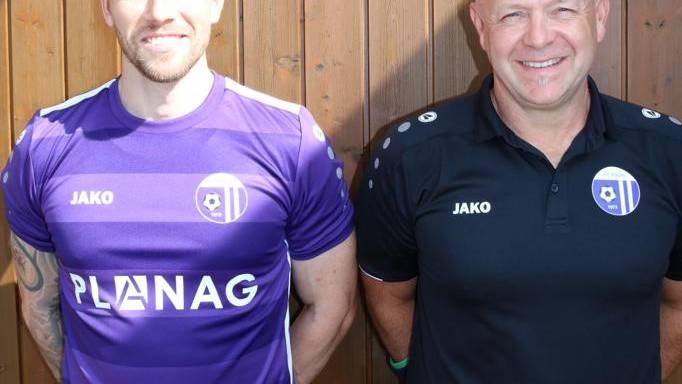 Das neue Trainergespann des FC Eiken 4.Liga: Chef-Trainer Martin Keser (rechts und Assistent Marc Troller
