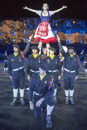 Der Auftritt der franzöischen «Fanfare du 27eme Bataillon de Chausseurs Alpin».