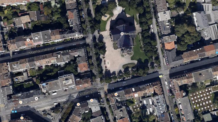 Die Auseinandersetzung spielte sich im Bereich Müllheimerstrasse/Matthäuskirchplatz ab.
