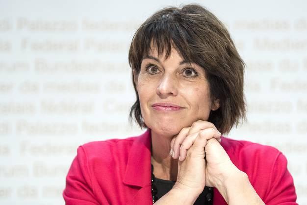 Beim Ausbau 2035 hat ihr Departement zu wenig Gehör fürs Limmattal: Uvek-Vorsteherin Doris Leuthard (CVP).