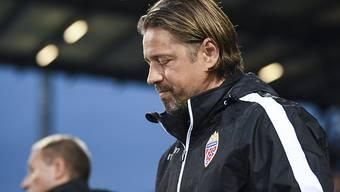Enttäuschung bei Liechtensteins Trainer Helgi Kolvidsson: Sein Team bringt gegen San Marino kein Tor zustande