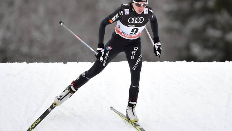Die Schweizer Teamleaderin Nathalie von Siebenthal lief einen Skating-Part (Archivaufnahme)