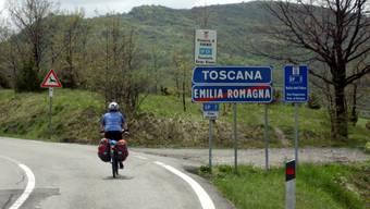 Auf weitgehend verkehrsarmen Strassen von einer Region Italiens zur nächsten.