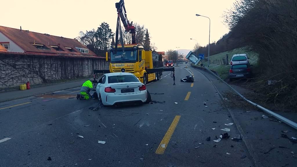 20-jähriger Autolenker verunfallt in Schönenwerd