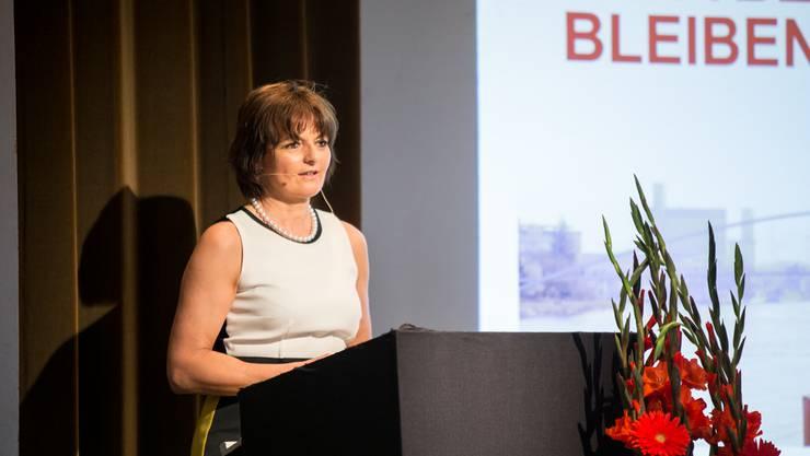 Ruth Metzler, Alt Bundesrätin und Präsidentin von Switzerland Global Enterprise, setzte an der Jahrestagung den Fokus auf die gesamte Schweiz.