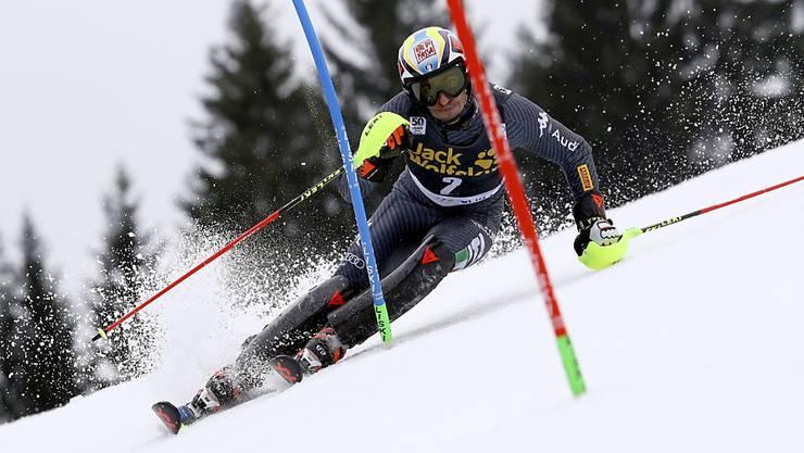 Der Italiener Stefano Gross führt in Kranjska Gora nach dem ersten Lauf mit über einer Sekunde Vorsprung vor dem Österreicher Michael Matt