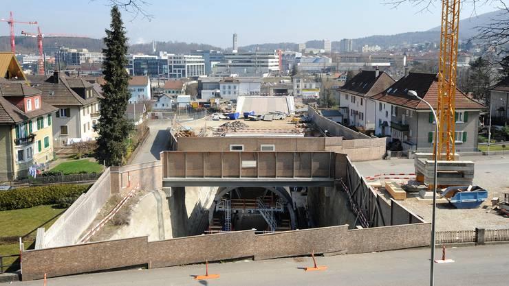 Einer der Tatorte: Baustelle Oltner Umfahrungsstrasse ERO.uw