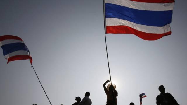Demonstrationen gegen die Regierung in Bangkok