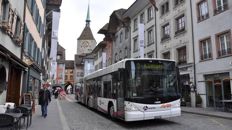 Die Aargauer Busbetriebe sind während der Coronakrise stark gefordert. (Archivbild)