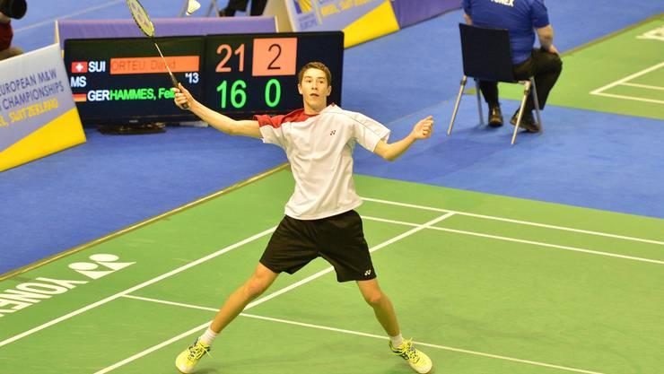 David Orteu, der beste Schweizer Junior an der U15-EM in Basel. Frischknecht
