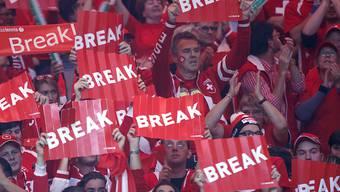 Wird es solche Bilder auch in Zukunft noch geben? Tausende Schweizer Fans feuern ihr Davis-Cup-Team an