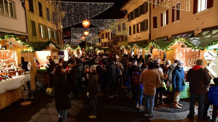 Weihnachtsmarkt in der Altstadt Olten 2017.