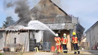 In Rupperswil brennt im April 2011 eine Scheune nieder