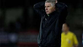 In welche Richtung geht es für FCA-Trainer Livio Bordoli? Die Klubleitung will nach dem Schaffhausen-Spiel von heute eine Bilanz ziehen.freshfocus