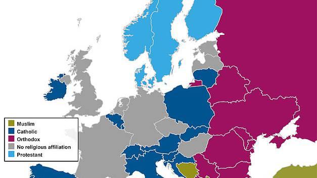 Religionsstruktur in Europa relativ stabil