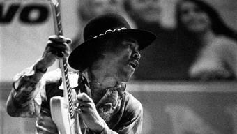 Der Wundergitarrist Jimi Hendrix am 31. Mai 1968 im Hallenstadion Zürich.