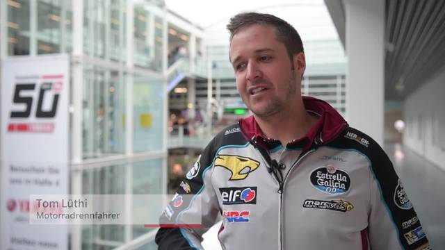 Tom Lüthi an der Swiss-Moto zu seinen ersten offiziellen MotoGP-Tests
