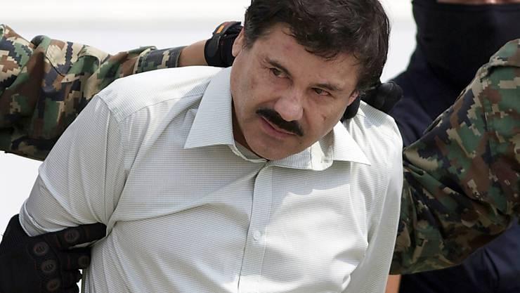 """Soll den USA 12,6 Milliarden Dollar an mutmasslichen Einnahmen aus Drogengeschäften zahlen: der verurteilte mexikanische Drogenboss Joaquín """"El Chapo"""" Guzman. (Archivbild)"""