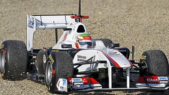 Sergio Perez leistete sich einen Ausflug ins Kiesbett