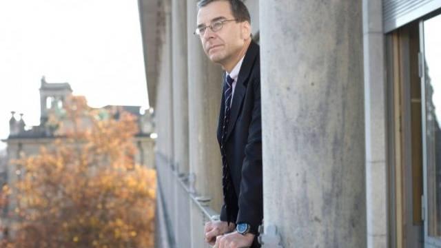 Swiss-Life-CEO Bruno Pfister am Hauptsitz der Versicherung in Zürich. Foto: Heike Grasser
