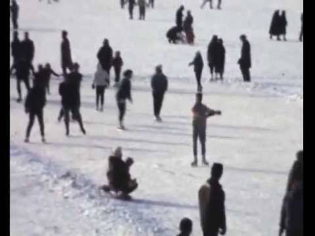 Eindrücke der Seegfrörni auf dem Zürichsee 1962/63