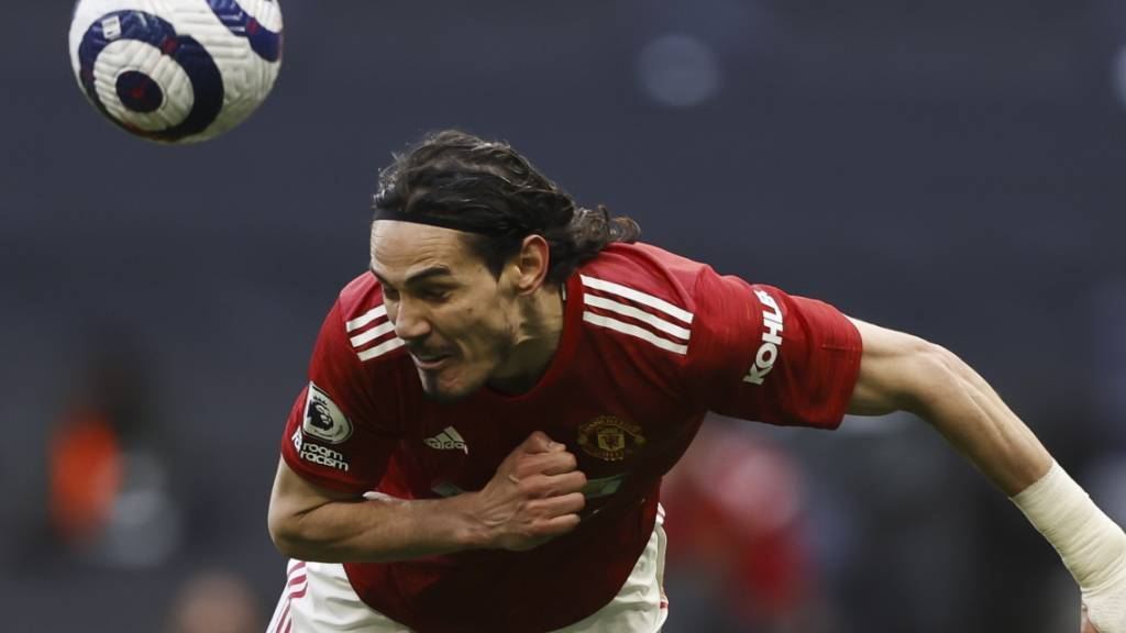 Edinson Cavani entschied das Spiel zwischen Tottenham und Manchester United mit einem Flugkopfball zum 2:1