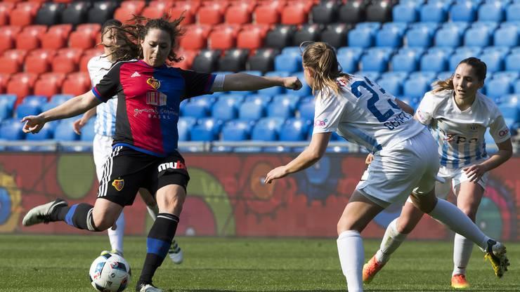 Die Frauen konnten zum ersten Mal in ihrer Vereinsgeschichte im St. Jakob-Park spielen.