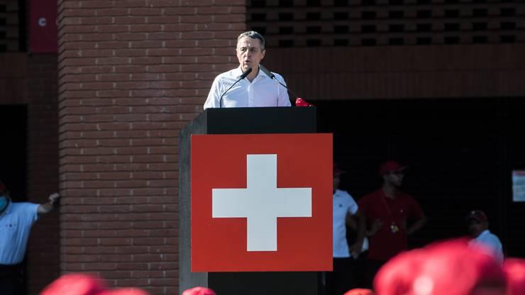 Aussenminister Ignazio Cassis (FDP) bestreitet Auftritte in allen Landesteilen.