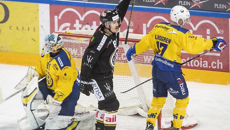Dario Bürgler war gegen Davos zweifacher Lugano-Torschütze