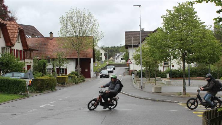Die Küttigerstrasse, hier mit der Einmündung Brühlstrasse von rechts, gab am Infoabend am meisten zu reden.