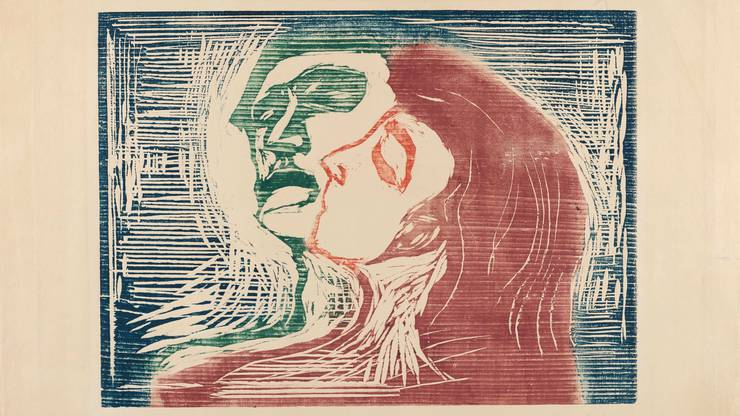 «Kopf bei Kopf» von Edvard Munch: Das Kunsthaus kauft das Werk einem Zwischenhändler der Nazis ab.