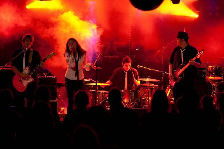 Die Aargauer Band Stranded Heroes in Aktion