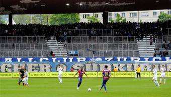 Der Fanprotest führte zu fast leeren Rängen bei der Partie FC Zürich gegen den FC Basel